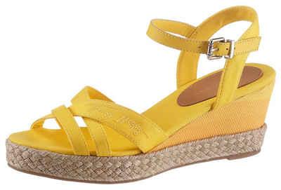 Tommy Hilfiger »TOMMY GRADIENT MID WEDGE SANDAL« Sandalette mit verstellbarer Schnalle