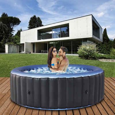 mSpa Whirlpool »Comfort Bergen C-BE061 aufblasbarer Outdoor Pool«, Extra dickes Rhino-Tech 6-Schicht-PVC, 138 Luftdüsen, 204.0 x 204.0 x 70.0 cm, Für 6 Personen