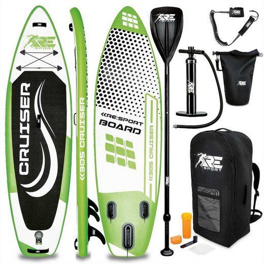 RE:SPORT SUP-Board, Stand Up Paddle Board Set aufblasbar 305/320/366/380cm, SUP Board mit Zubehör, Paddling Surfbrett, Surfboard für Einsteiger & Fortgeschrittene