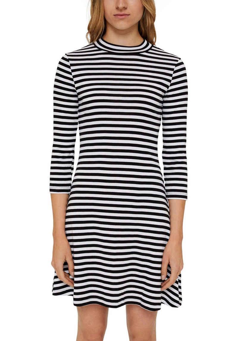 edc by Esprit Jerseykleid mit kleinem Stehkragen und 3/4 Ärmeln