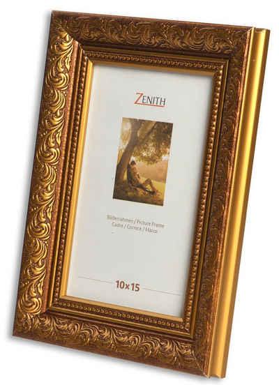 Victor (Zenith) Bilderrahmen »Rubens«, 10x15 cm, in braun gold, Leiste: 30x20m, Barock, Echtglas, antiker Bilderrahmen