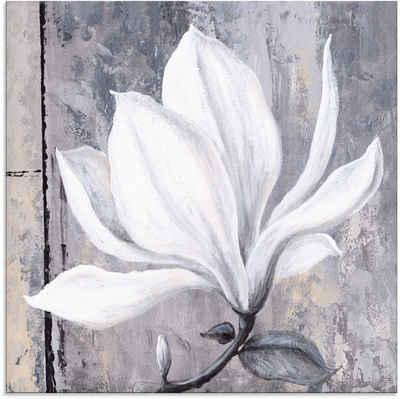 Artland Glasbild »Klassische Magnolie«, Blumen (1 Stück)