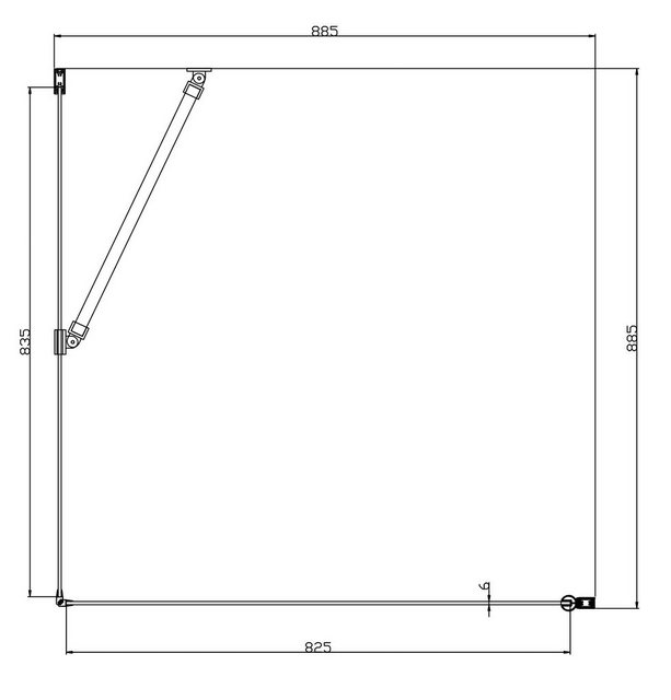 Duschen und Zubehör - welltime Eckdusche »Florenz«, BxT 90x90 cm, Sicherheitsglas, mit Hebe Senk Mechanismus, barrierefrei einbaubar  - Onlineshop OTTO