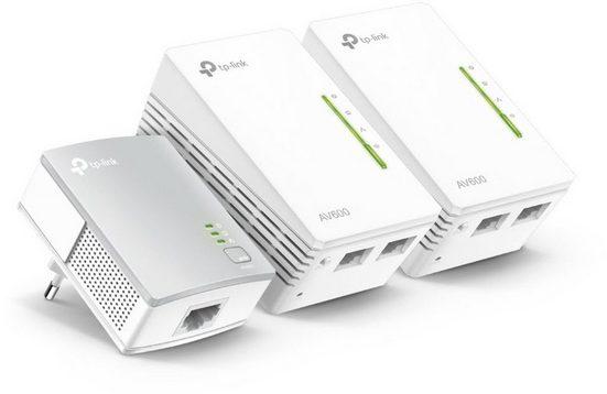 TP-Link Powerline »TL-WPA4220T KIT - AV500 (3er KIT, 2x LAN)«