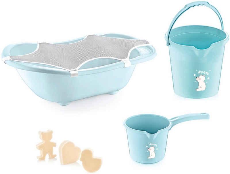 Babyjem Babybadewanne »turqoise«, (Set, 5-tlg), Made in Europe