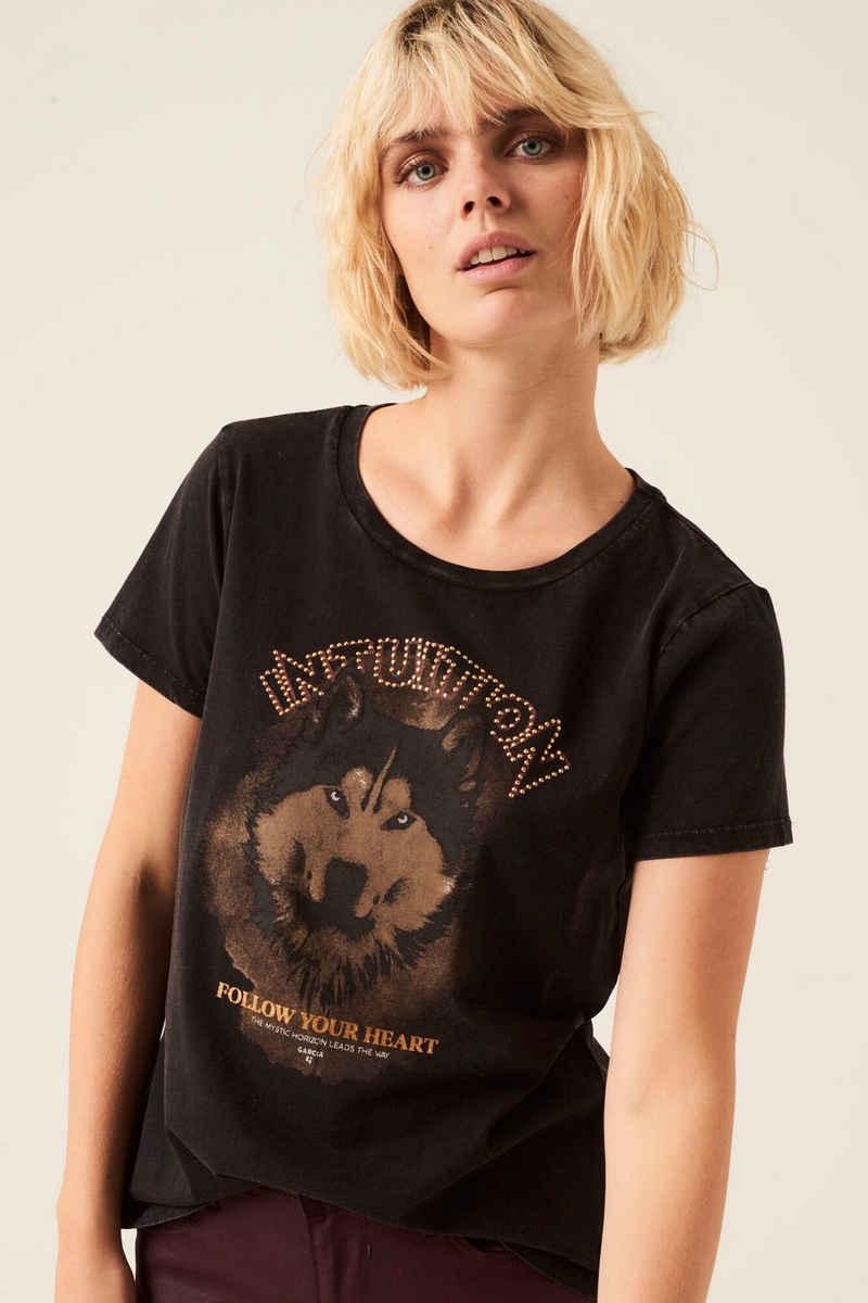 Garcia T-Shirt »J10202 - 1755-off black« mit Fotoprint