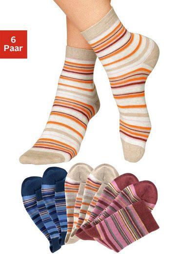 H.I.S Socken (6-Paar) mit Ringeln