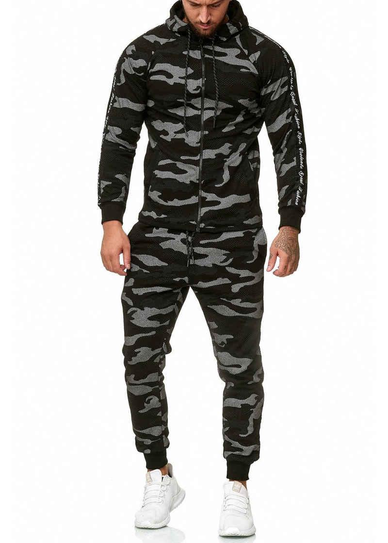 OneRedox Jogginganzug »1011C« (Sportanzug Jogger Trainingsanzug, im modischem Design), Fitness Freizeit Casual