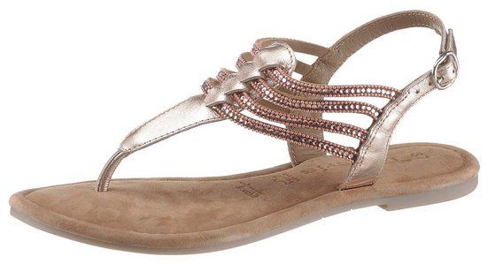 Tamaris »Milos« Sandale mit funkelnden Strass-Steinchen