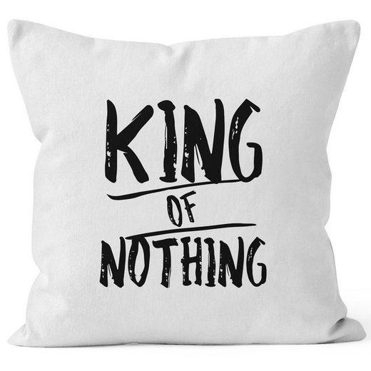 MoonWorks Dekokissen »Kissenbezug King of Nothing Kissen-Hülle Partner Hochzeit 40x40 MoonWorks®«