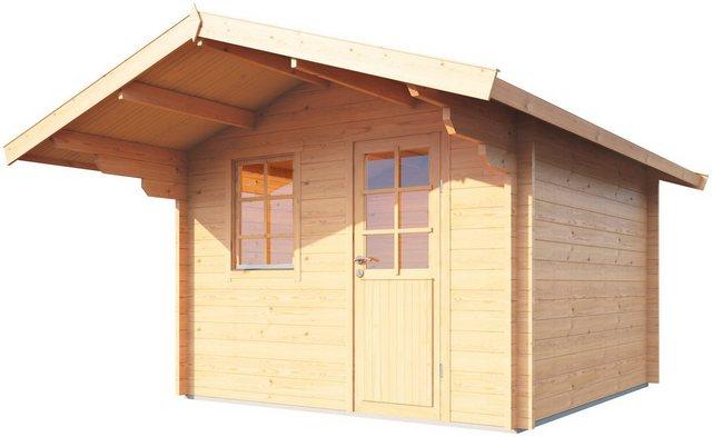 WOLFF FINNHAUS Gartenhaus »Skagen 58-B«, BxT: 360x450 cm, inkl. Fußboden   Garten > Bodenbeläge-Garten   Wolff