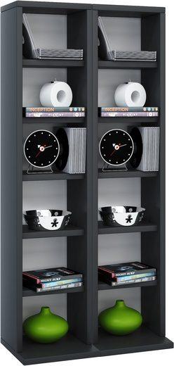 VCM CD-Regal »Holz CD DVD Stand Regal Milano«