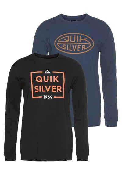 Quiksilver Longsleeve »LOW & FAR LS« (Packung, 2-tlg., 2er-Pack)