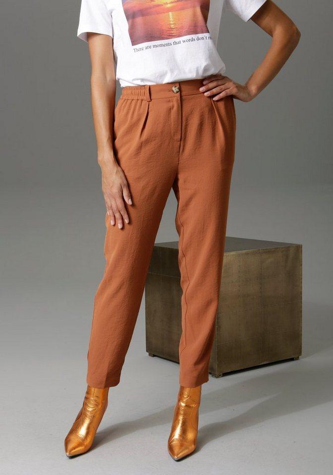 aniston casual -  Bundfaltenhose mit Gummizug hinten und an den Seiten - NEUE KOLLEKTION