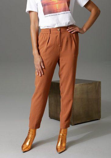 Aniston CASUAL Bundfaltenhose mit Gummizug hinten und an den Seiten