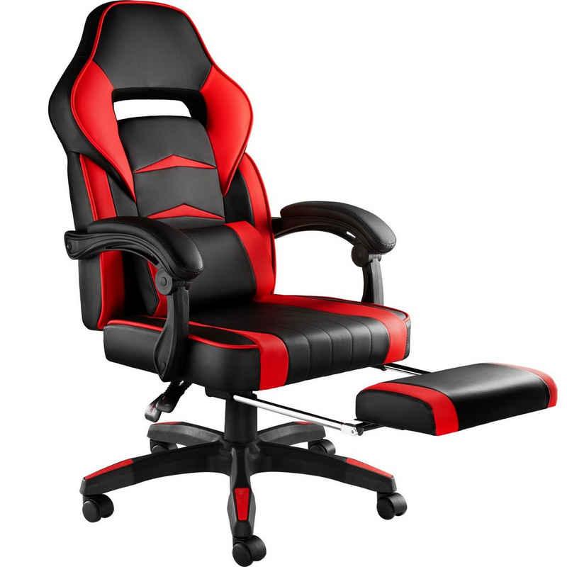 tectake Gaming-Stuhl »Racing Bürostuhl mit Fußstütze« (1 Stück), Fußstütze