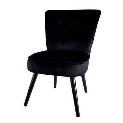 Cosy Home Ideas Cocktailsessel »Sessel Samt Optik HO-760570 schwarz mit Knöpfen« (1 Stück, 1x Sessel), mit edler Knopfheftung, Bezug in Samt Optik