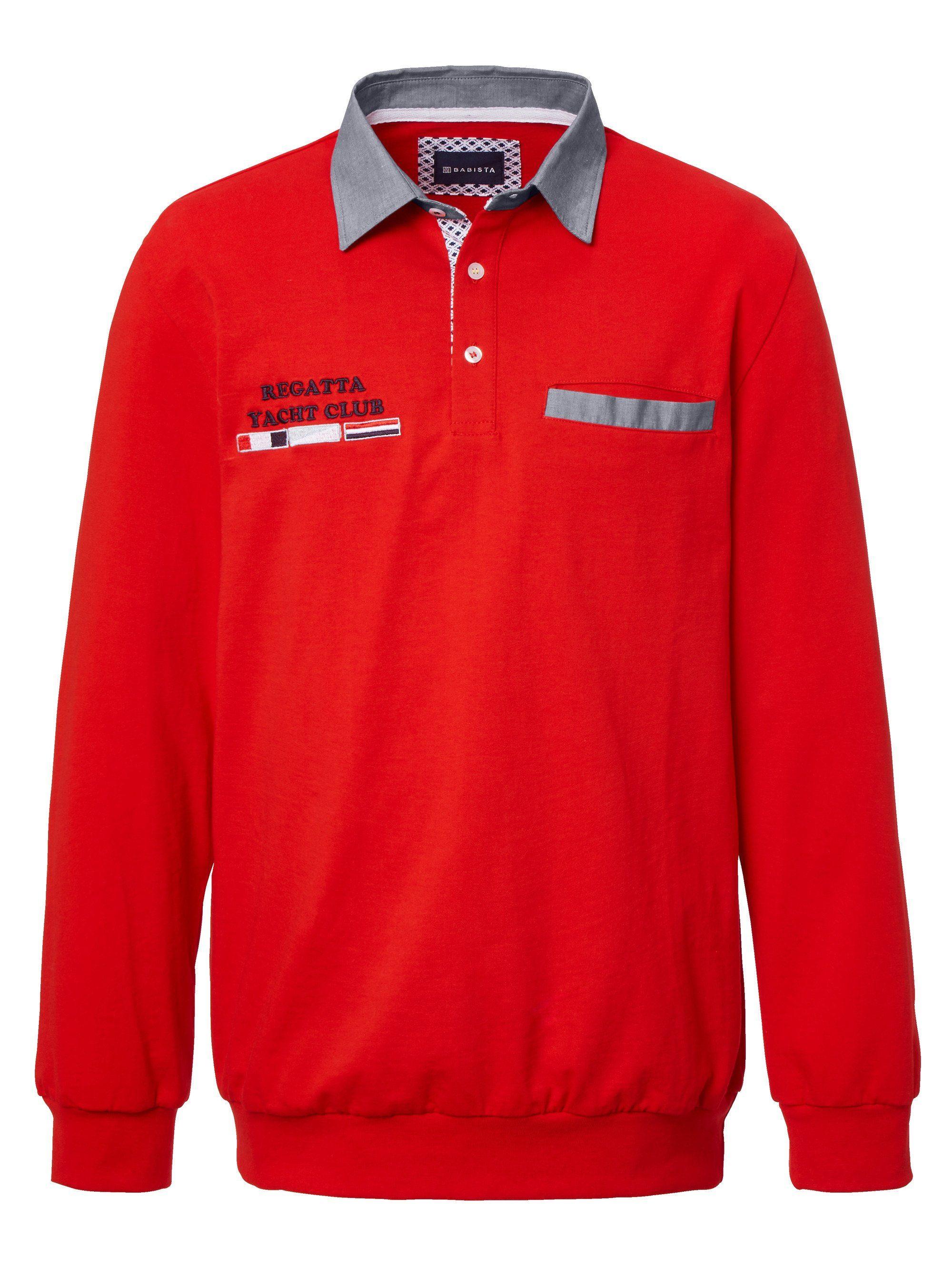 Babista Sweatshirt mit Kontrastdetails, Besonderer Hemdkragen in Kontrast online kaufen | OTTO