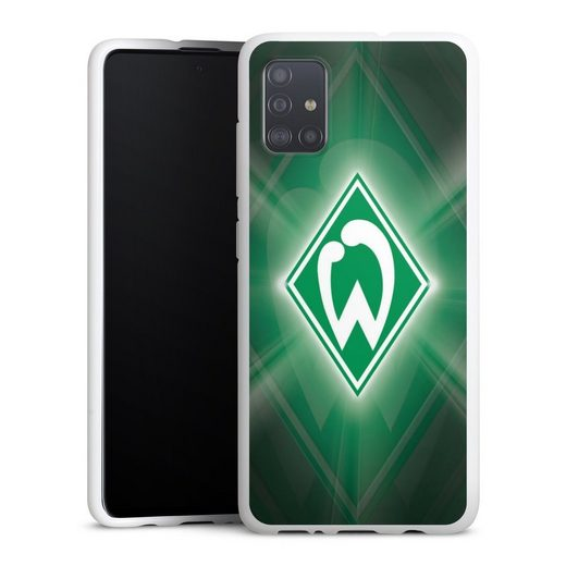 DeinDesign Handyhülle »Werder Bremen Laser« Samsung Galaxy A51, Hülle SV Werder Bremen Offizielles Lizenzprodukt Wappen