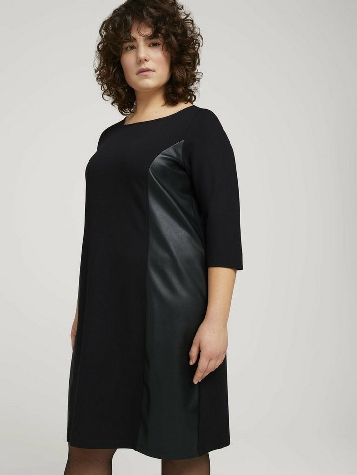 tom tailor my true me -  Lederkleid »Etuikleid mit Details in Leder-Optik«