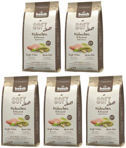 Bosch Petfood Trockenfutter »Soft Huhn und Banane«, 5 Beutel á 1 kg