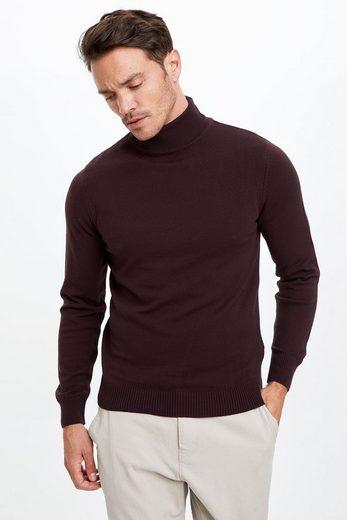 DeFacto Rollkragenpullover »DeFacto Herren Pullover Slim Fit Turtleneck«