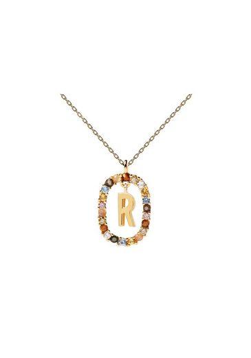 PDPAOLA Halsband »Buchstabenkette R«