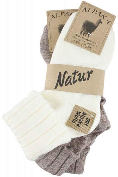 Sonia Originelli Strümpfe »Alpaka Socken Wolle Strümpfe Feinstrick Bündchen Umschlagsaum«