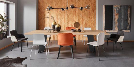 Places of Style Esszimmerstuhl »Effie« 2er Set  aus einem schönen massivem Buchenholzgestell  mit weichem Velvet Bezug