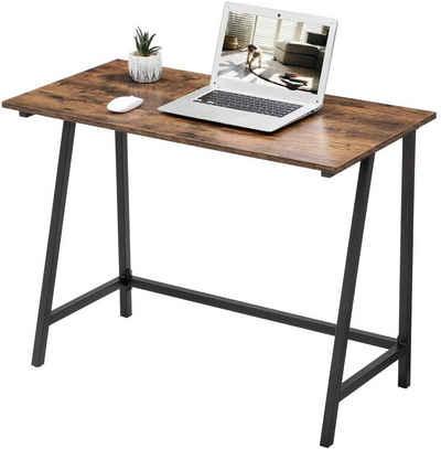 VASAGLE Schreibtisch »LWD40X«, Schreibtisch, Computertisch, 100 x 50 x 75 cm, vintage
