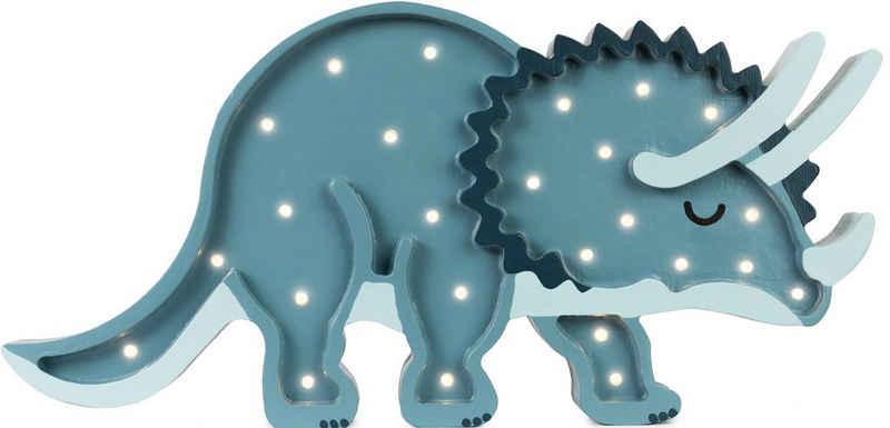 little lights LED Tischleuchte »Dino Triceratops«, mit Dimmer und Fernbedienung, Timer