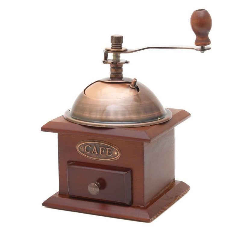 Goods+Gadgets Kaffeemühle Nostalgie Retro Kaffee-Mühle, Vintage Handkaffeemühle