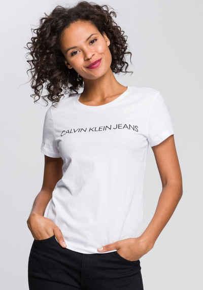 Calvin Klein Jeans T-Shirt »CORE INSTITUTIONAL LOGO SLIM FIT TEE« mit Calvin Klein Logo-Schriftzug