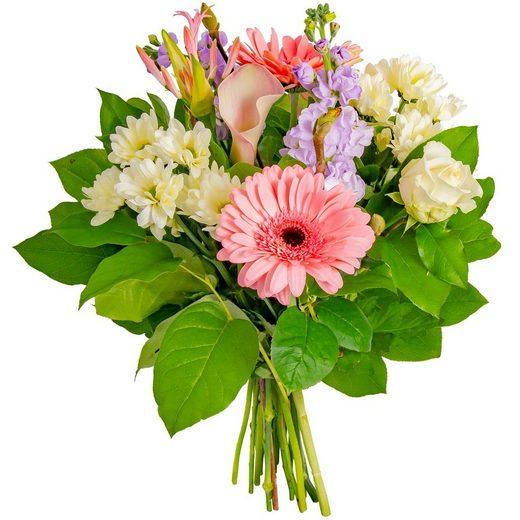 FLOWRFRAME Blumenstrauß, mit 13 bunten gemischten Blumen ohne Vase