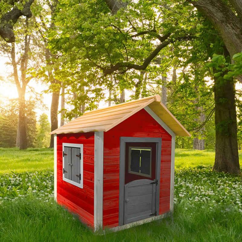 HOME DELUXE Spielhaus DAS KLEINE SCHLOSS, Spielhaus aus Holz für Kinder - umweltfreundliches Kinderspielhaus - 101 x 106 x 128 cm - Inkl. Montagematerial, Gartenhaus Holzhaus