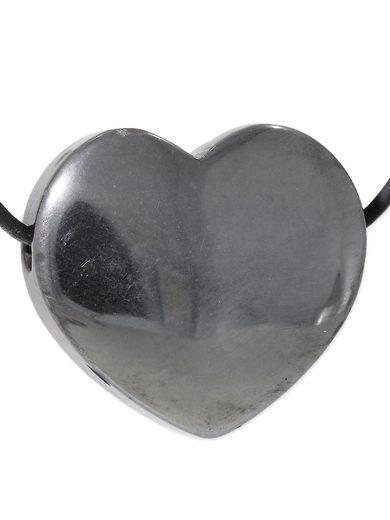 Adelia´s Kettenanhänger »Herz Hämatit Anhänger«