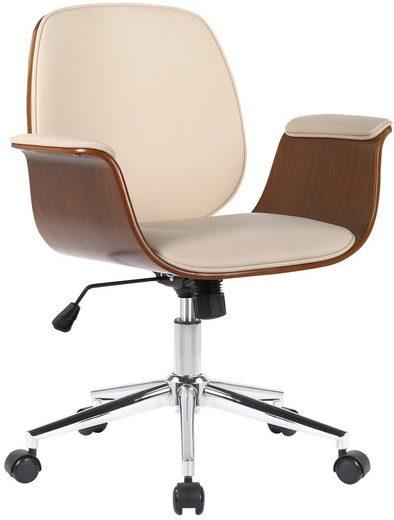 CLP Schreibtischstuhl »Kemberg Kunstleder«, mit eingebautem Wippmechanismus
