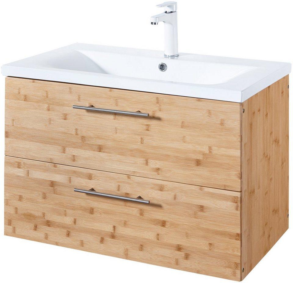 KONIFERA Waschtisch »Bambus New«, Waschplatz, 80 cm breit, Bad-Set, 2-tlg.  online kaufen | OTTO
