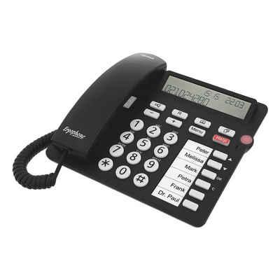 Tiptel »Ergophone 1300« Großtastentelefon (mit großen Tasten, optischer Anrufanzeige und Notruffunktion)