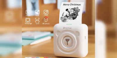 PRECORN »Mini Drucker mit USB-Kabel tragbarer Fotodrucker Peripage Mini-Fotodrucker drahtloser Thermodrucker unterstützt Android iOS Smartphone« Kinderkamera
