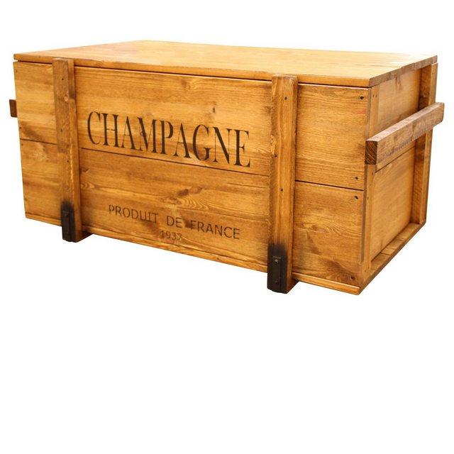 Uncle Joe´s Truhentisch »Champagne«| mit elegantem Schriftzug | Wohnzimmer > Tische > Truhentische | Uncle Joe´s