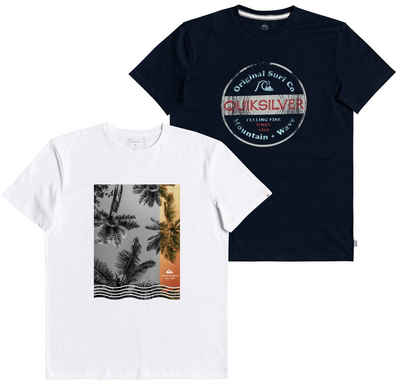 Quiksilver T-Shirt (Packung, 2-tlg., 2er-Pack)