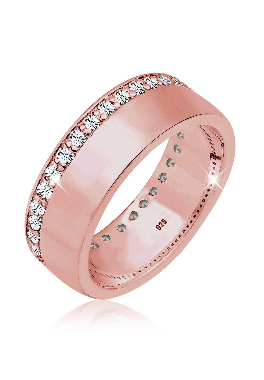 Elli Fingerring »Funkelnd Swarovski® Kristalle 925 Sterling Silber«, Bandring online kaufen   OTTO