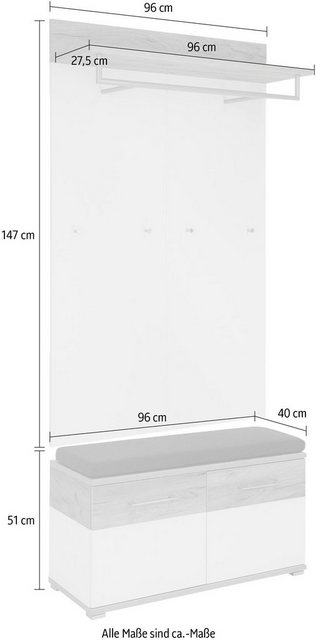 Garderoben Sets - GERMANIA Garderoben Set »GW Topix«, (Set, 3 St), Türen mit Soft Close Funktion  - Onlineshop OTTO