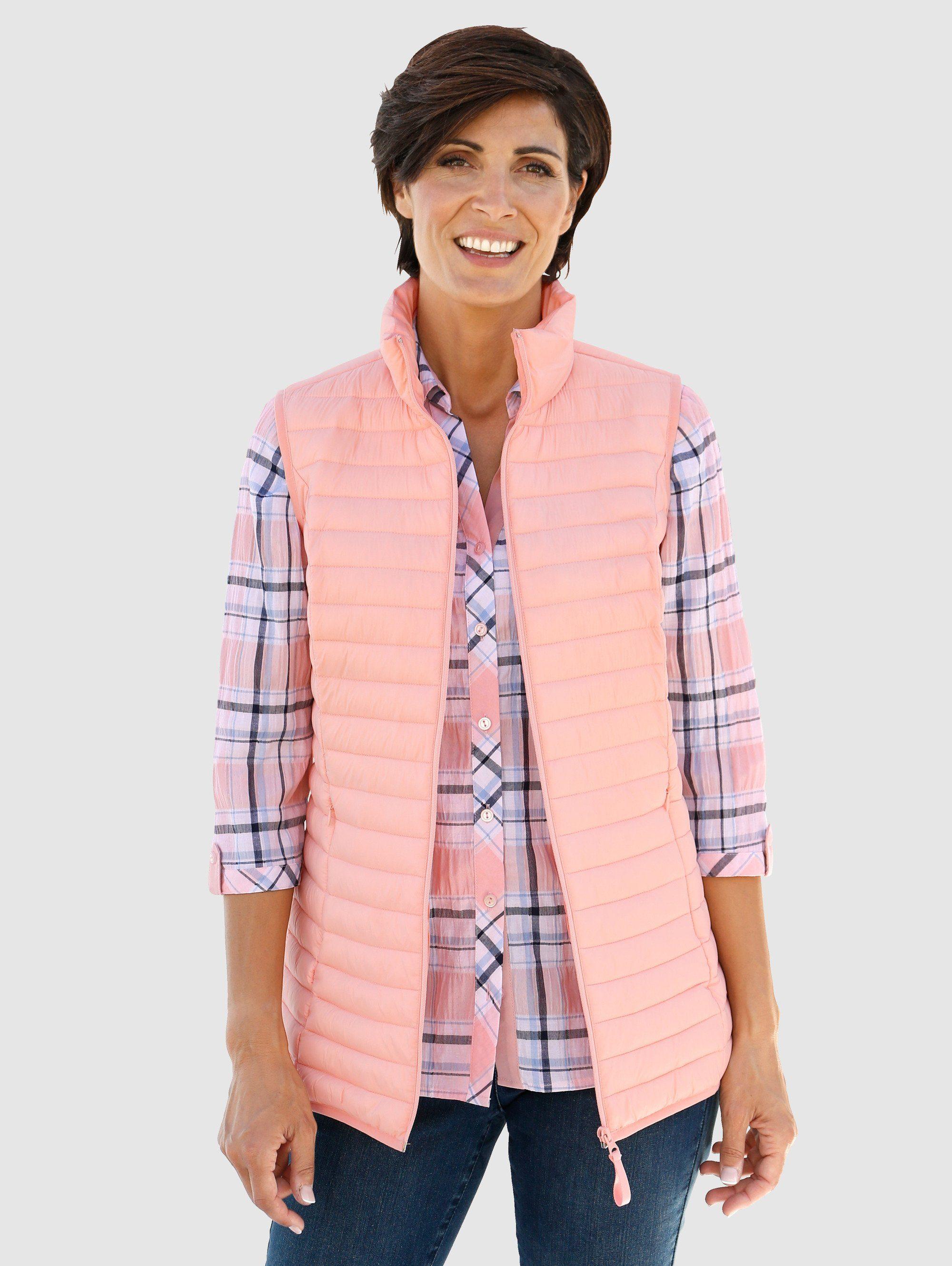 Damen Paola Steppweste mit passendem Tragebeutel orange | 04055697727637