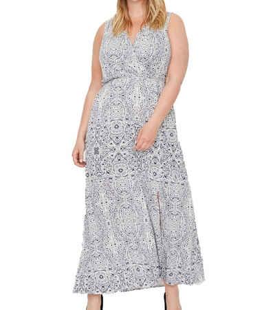 Junarose Sommerkleid »Junarose Wickel-Kleid feminines Damen Maxi-Kleid mit ornamentalem Muster Abend-Kleid Blau«
