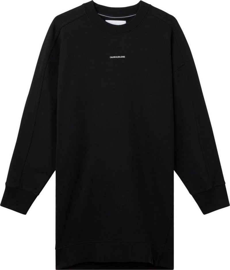 Calvin Klein Jeans Sweatkleid »Micro branding crew neck« mit Calvin Klein Jeans Micro Logo-Schriftzug