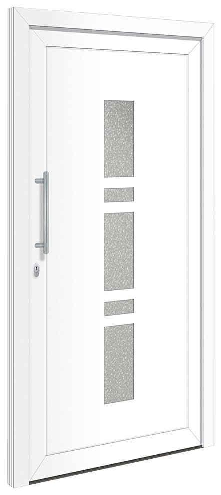 RORO Türen & Fenster Haustür »OTTO 19«, BxH: 100x200 cm, weiß, ohne Griffgarnitur