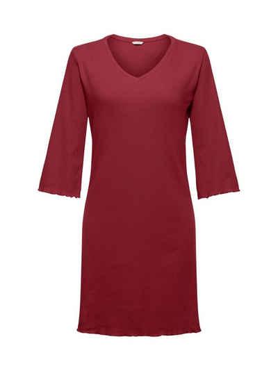 Esprit Nachthemd »Geripptes Nachthemd aus Baumwoll-Jersey«
