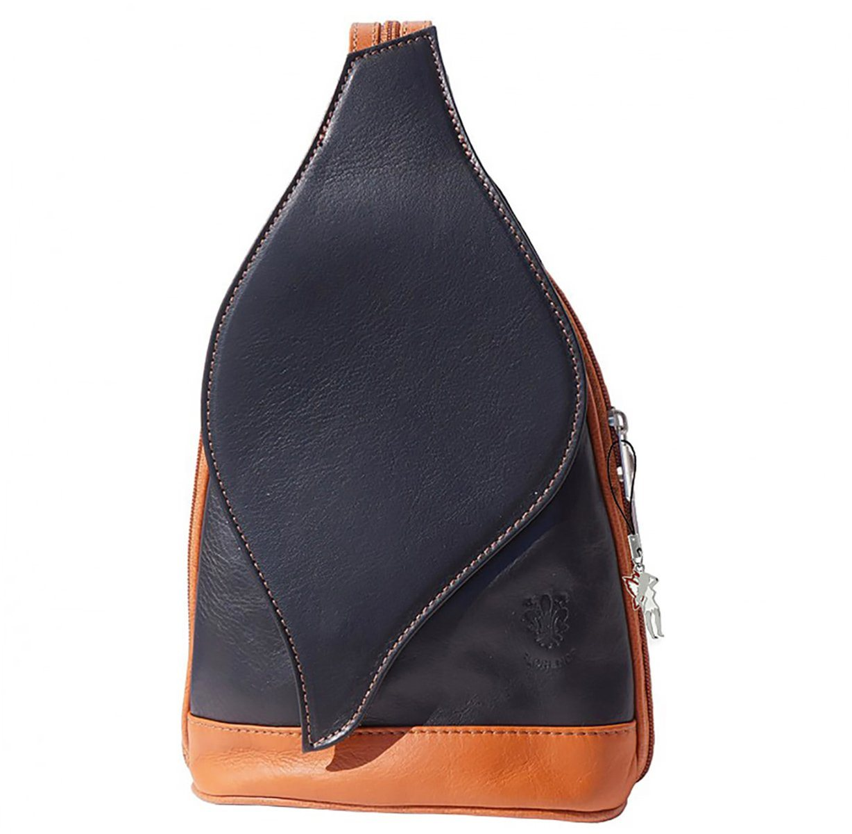 florence -  Cityrucksack »OTF602X  Damen Rucksack Schultertasche«, Damen Rucksack, Tasche, Echtleder schwarz, braun